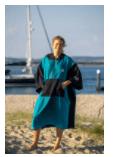 Changing Robe Pancho Blue